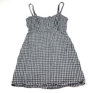 Brandy Melville Plaid Cami Strap Summer Mini Dress